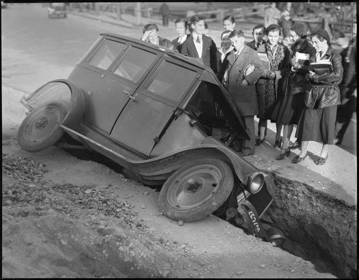 Wypadki samochodów w latach 30. 9