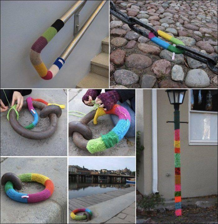 Street art: włóczka 30