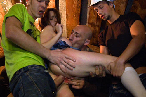 Kendra - Gang Bang with Russian Girl - Kink/ BoundGangBangs (2012/ HD 720p)