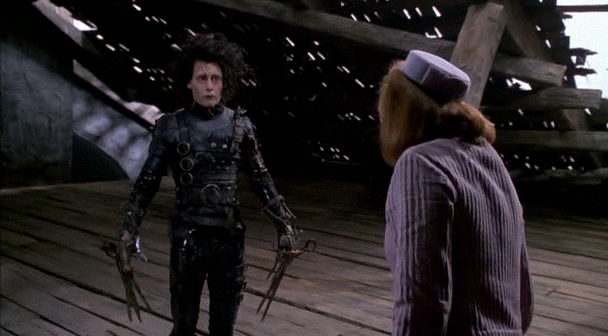 edward scissorhand essay Edward scissorhands creates a whole new world for viewers to enjoy: the classic, perfect world of suburbia with each family living the american dream versus the unknown world of an uncommonly gentle man who is nearly human.