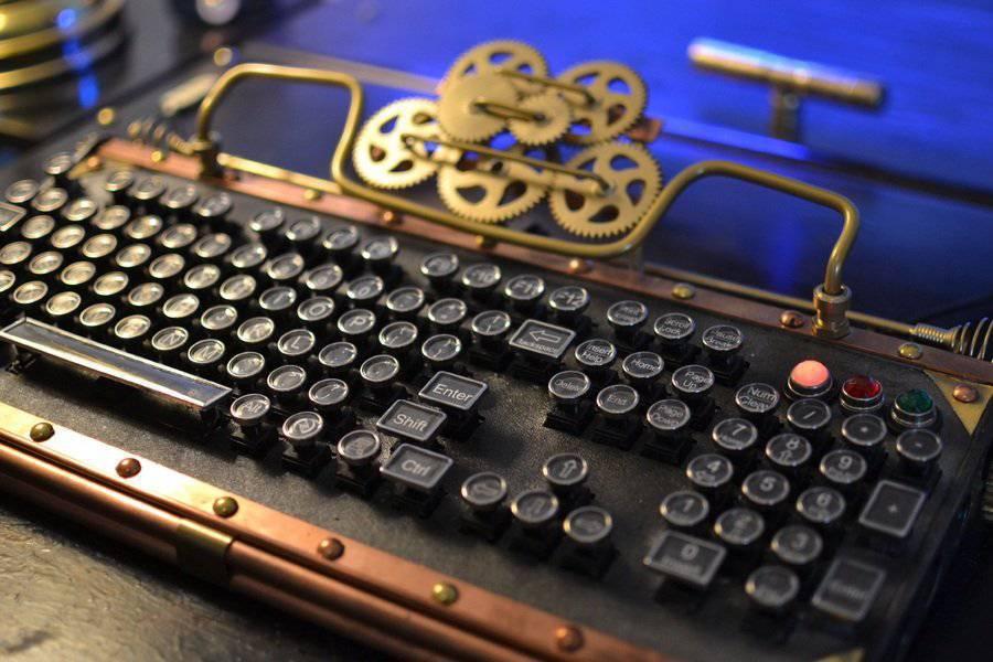 Komputer w stylu steampunk 8