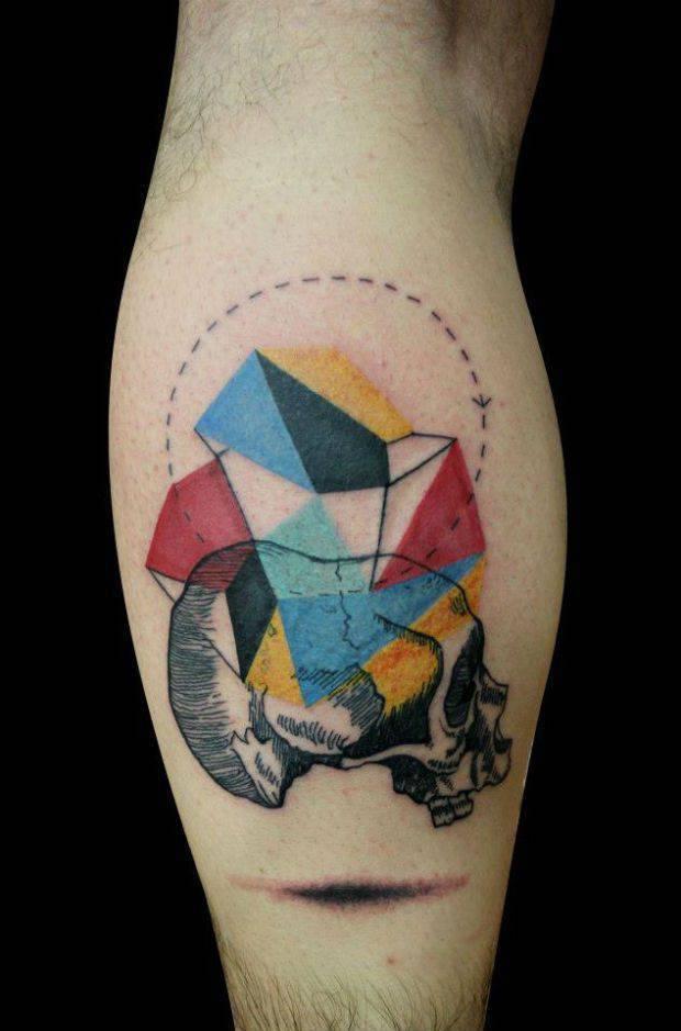 Geometryczne tatuaże 38