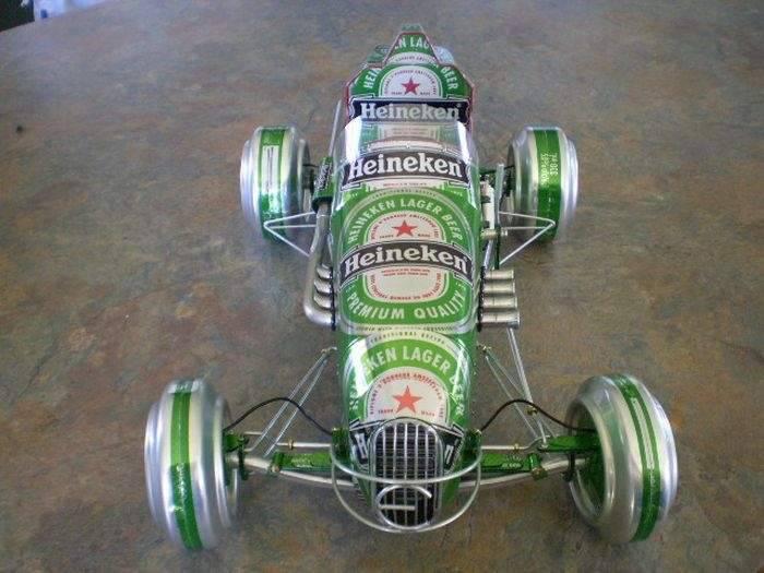 Modele samochodów z aluminiowych puszek 10