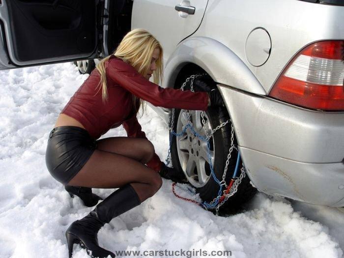 Kobiety za kierownicą zimą 27