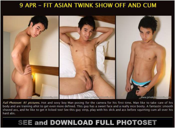 [privateboymovie.com] 9 Apr – Fit Asian Twink Show Off and Cum (Photoset)
