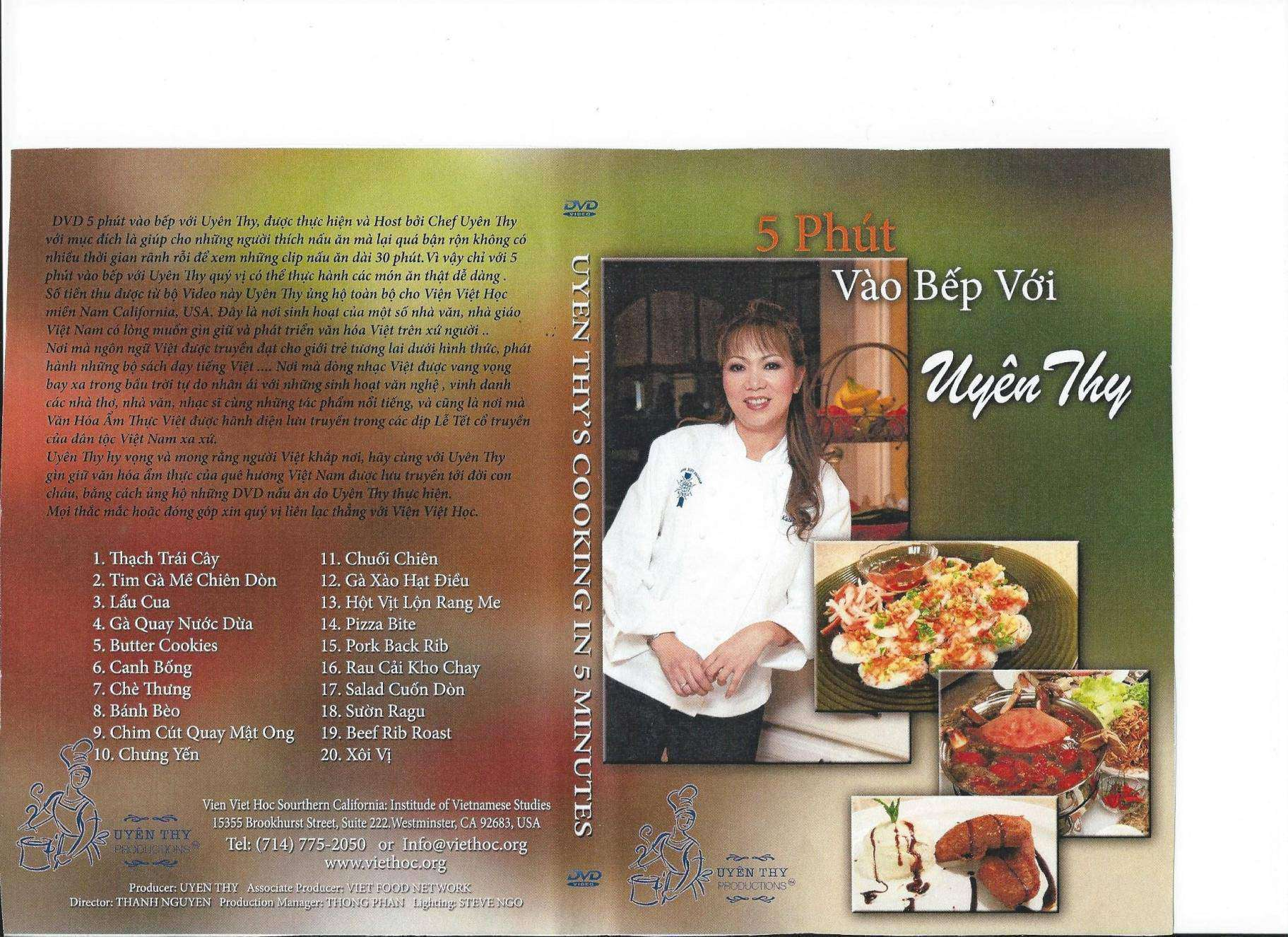 Cooking 5 ' with Uyen Thy ISO 2 DVD