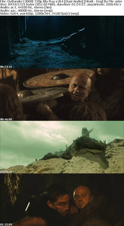 Outlander (2008) 720p Blu-Ray x264 [Dual Audio] [Hindi - Eng] By