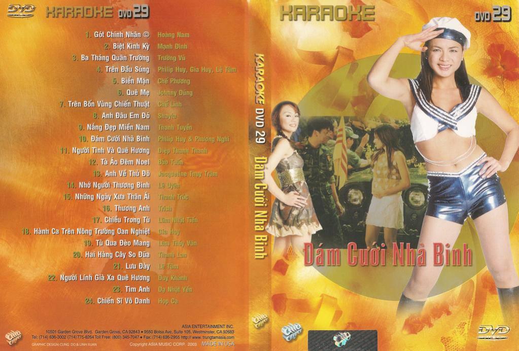 """ASIA 29 Karaoke """" Đám Cưới Nhà Binh """" DVD5"""