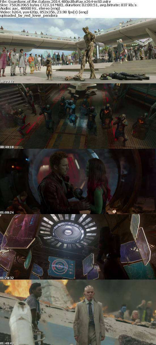 Guardians of the Galaxy 2014 480p BluRay x264-mSD