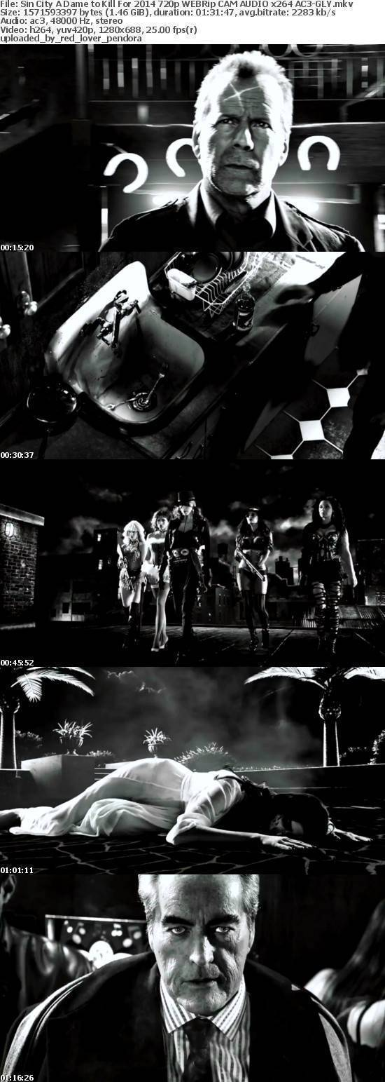 Sin City A Dame to Kill For 2014 720p WEBRip CAM AUDIO x264 AC3-GLY