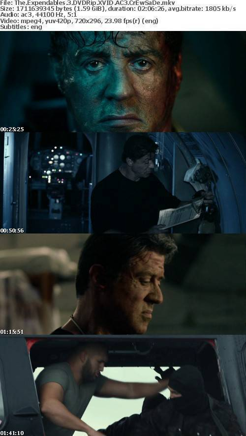 The Expendables 3 DVDRip XVID AC3 CrEwSaDe