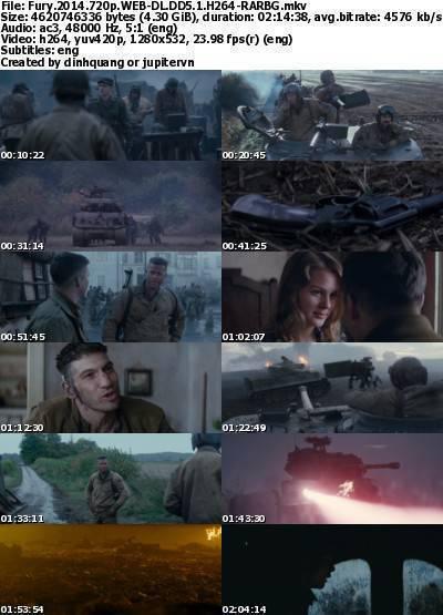 Fury (2014) 720p WEB-DL DD5.1 H264-RARBG