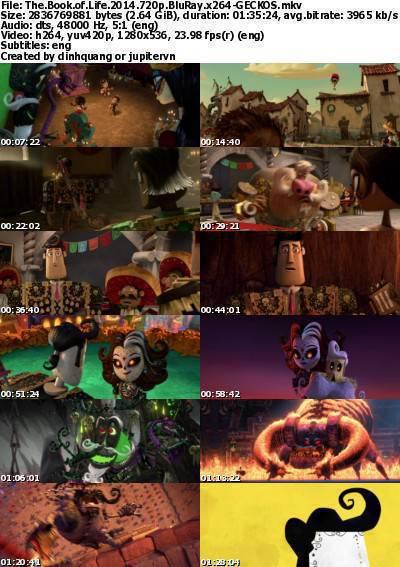 The Book of Life (2014) 720p BluRay x264-GECKOS