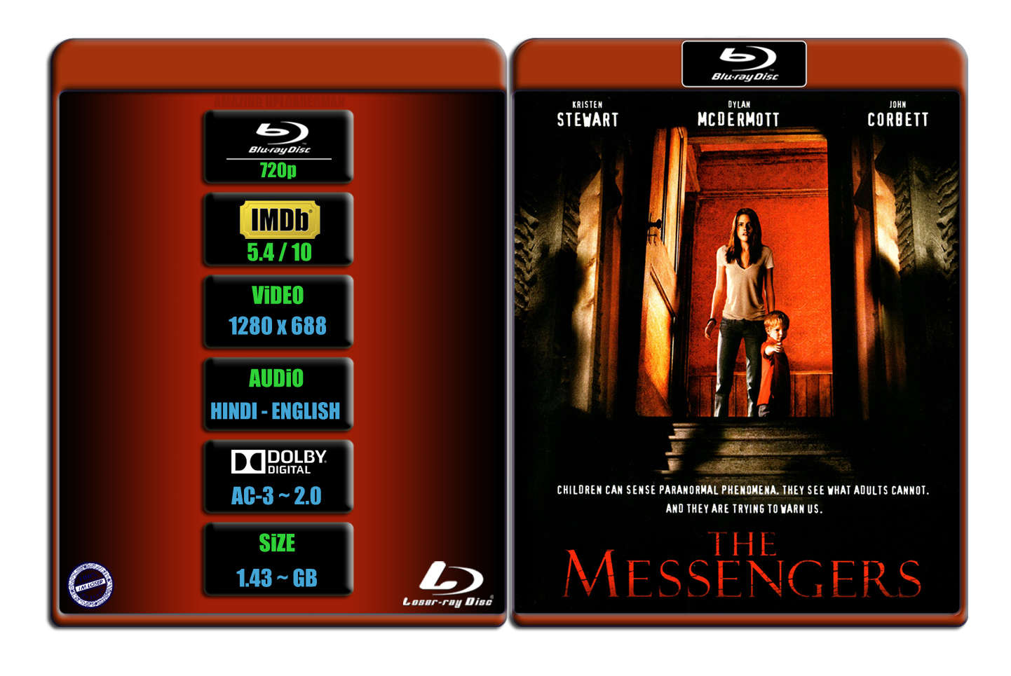 The Messengers [2007] 720p BR Rip x264 [AC-3 ~ 2.0] [HINDI – ENG] ® Im Loser ® 1.44 Gb