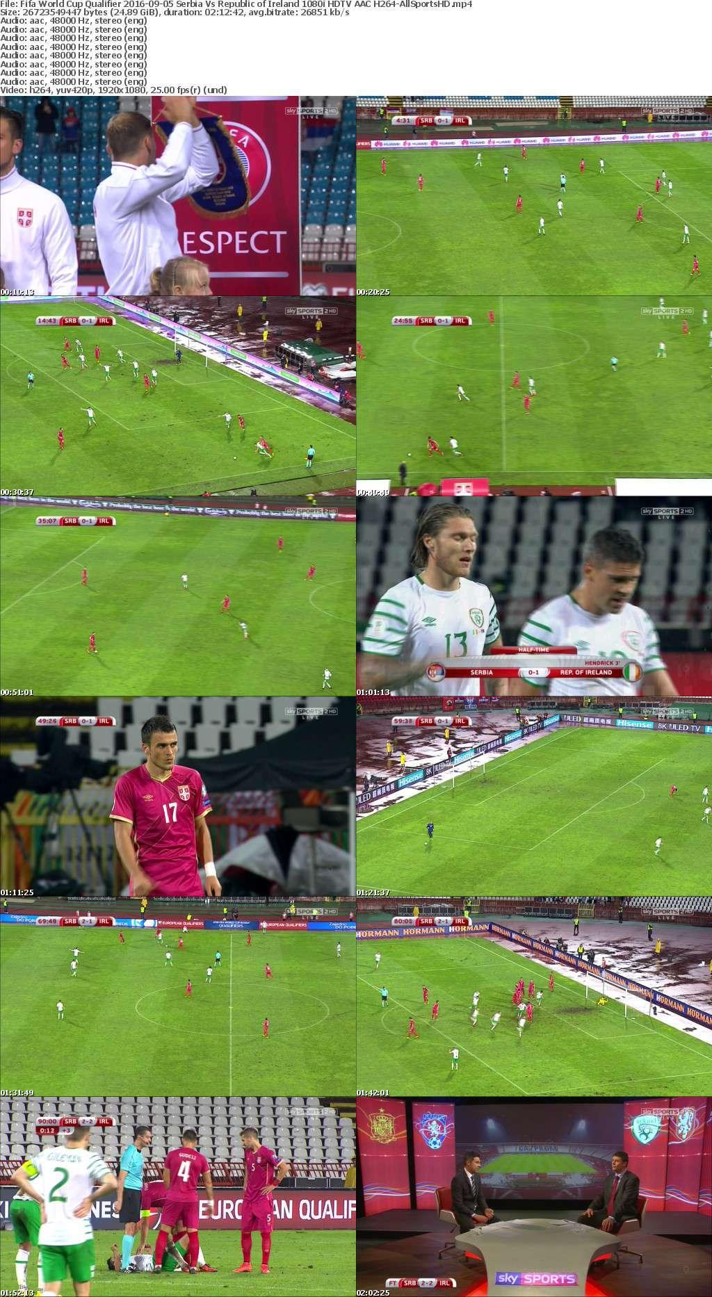 Fifa World Cup Qualifier 2016-09-05 Serbia Vs Republic of Ireland 1080i HDTV AAC H264-AllSportsHD
