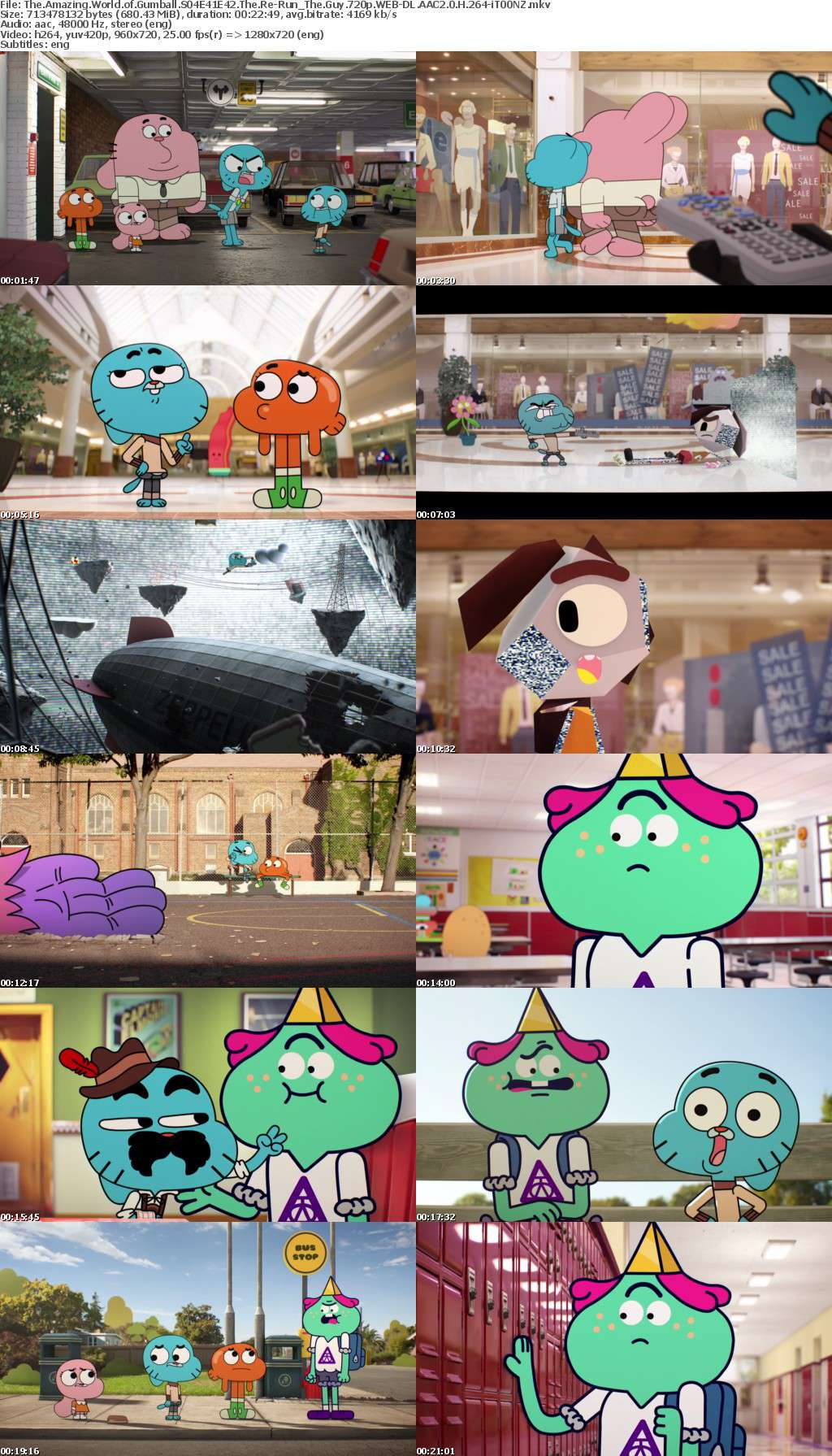The Amazing World of Gumball S04E41E42 The Re-Run The Guy 720p WEB-DL AAC2 0 H 264-iT00NZ
