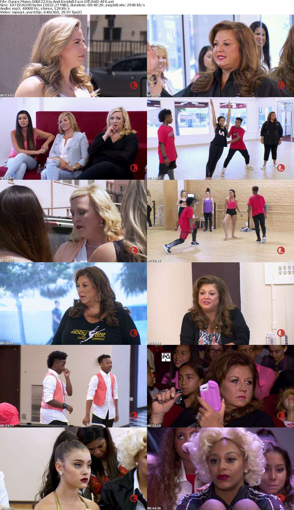 Dance Moms S06E22 Nia And Kendall Face Off XviD-AFG