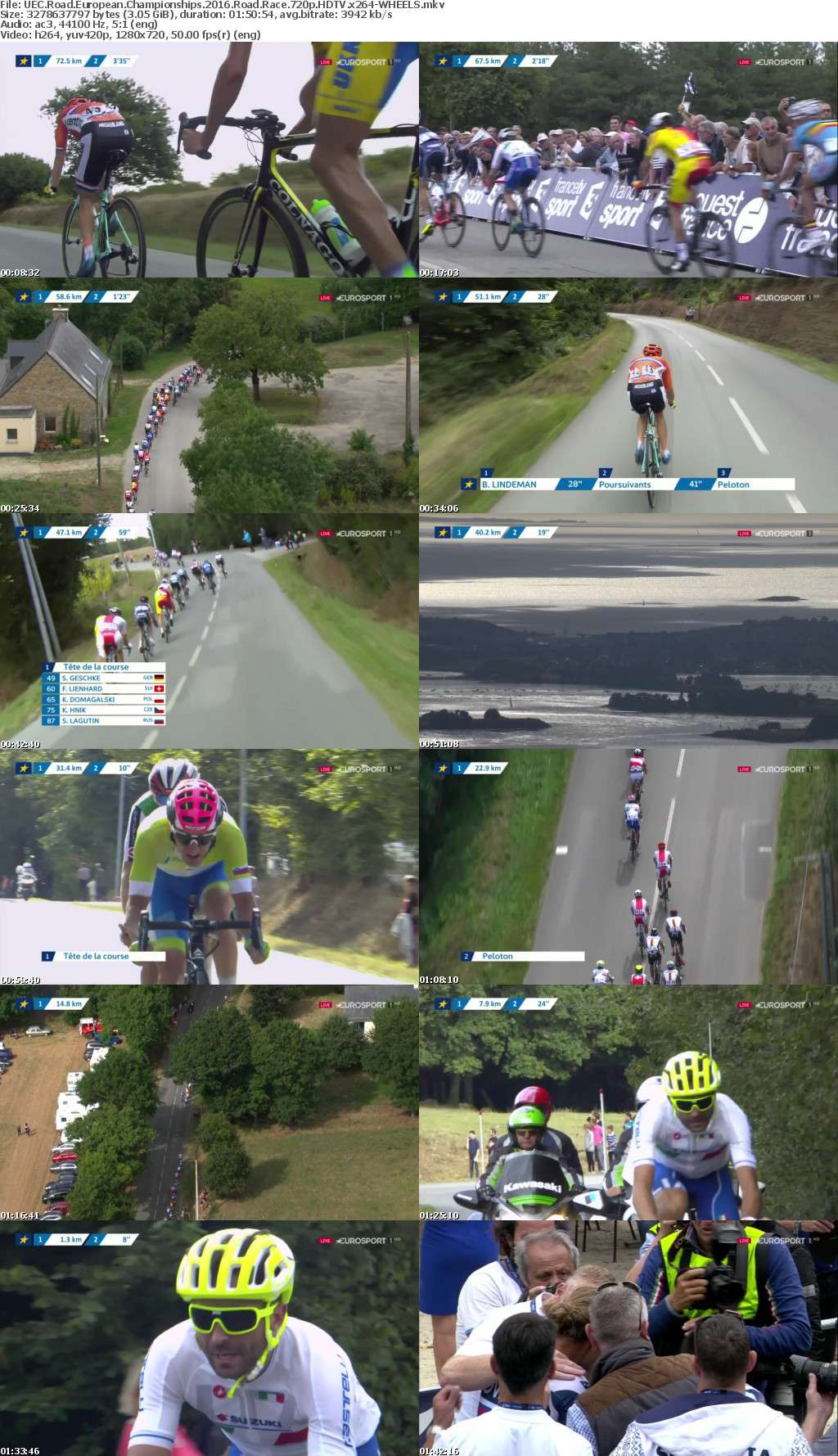 UEC Road European Championships 2016 Road Race 720p HDTV x264-WHEELS