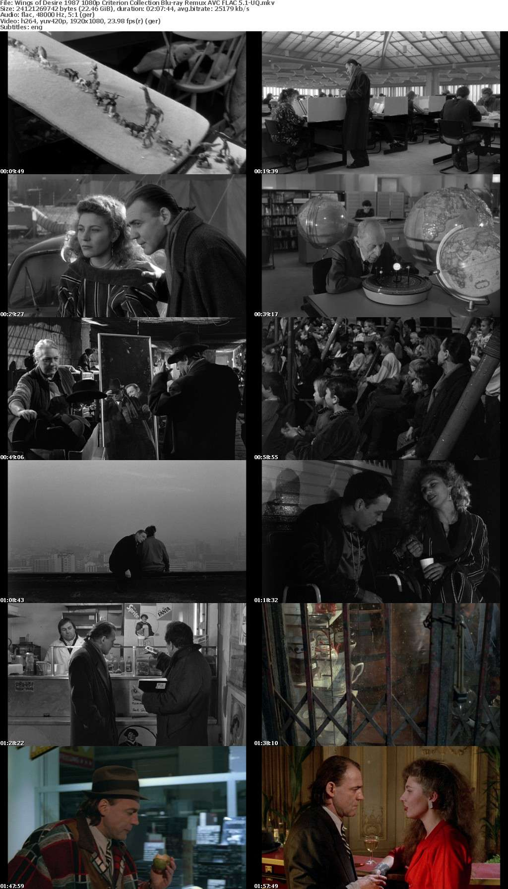 [German] Wings of Desire 1987 Criterion Collection 1080p Bluray Remux AVC FLAC 5 1-UQ