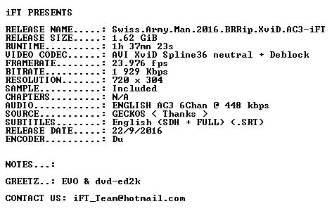 Swiss Army Man 2016 BRRip XviD AC3-iFT