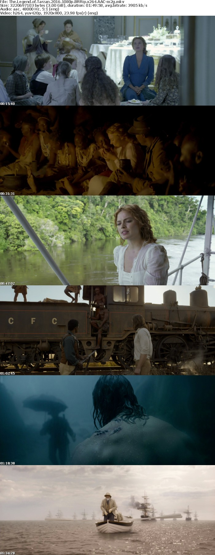 The Legend of Tarzan 2016 1080p BRRip x264 AAC-m2g