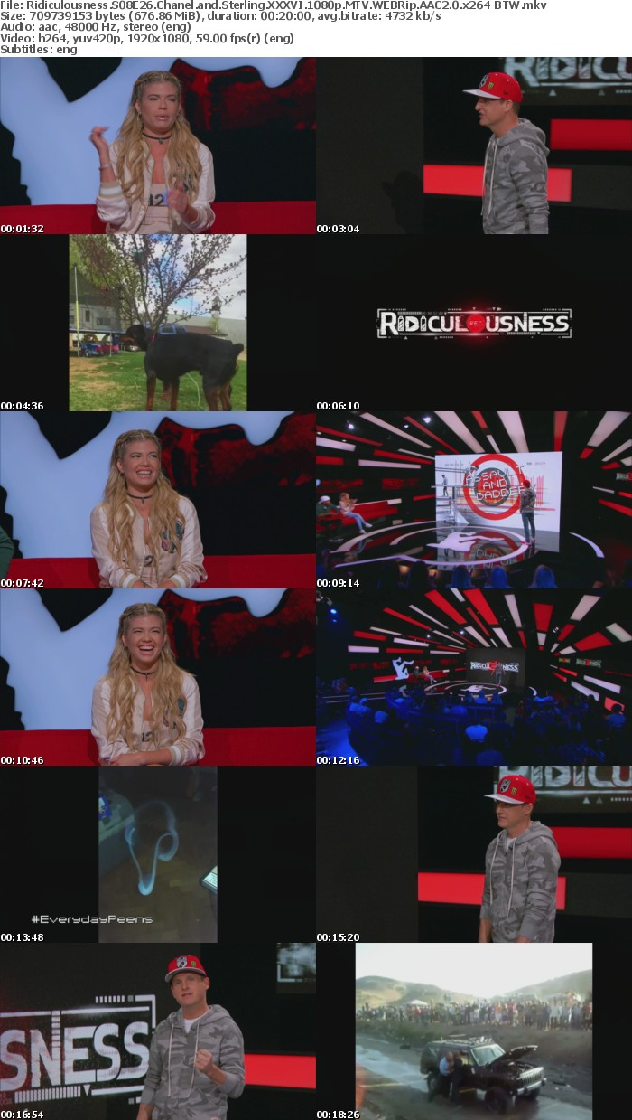 Ridiculousness S08E26 Chanel and Sterling XXXVI 1080p MTV WEBRip AAC2 0 x264-BTW
