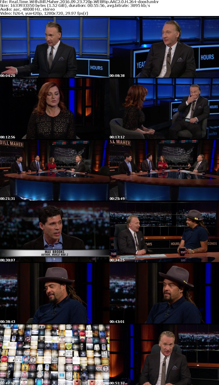 Real Time With Bill Maher 2016 09 23 720p WEBRip AAC2 0 H 264-doosh