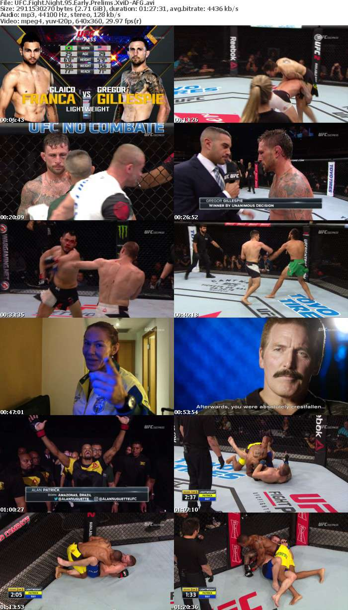 UFC Fight Night 95 Early Prelims XviD-AFG
