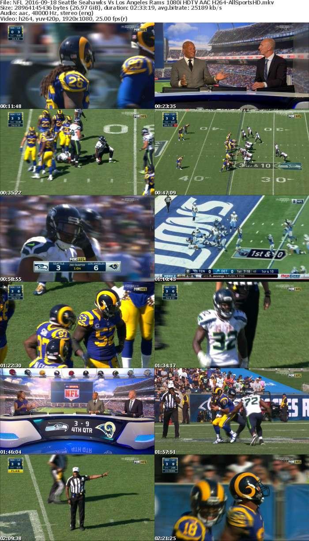 NFL 2016-09-18 Seattle Seahawks Vs Los Angeles Rams 1080i HDTV AAC H264-AllSportsHD