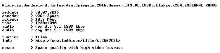 Alice im Wunderland Hinter den Spiegeln 2016 German DTS DL 1080p BluRay x264 iNTERNAL-XANOR