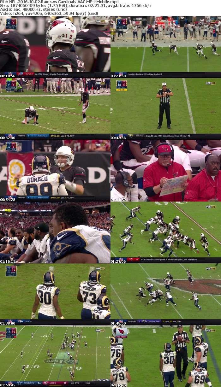 NFL 2016 10 02 Rams vs Cardinals AAC-Mobile