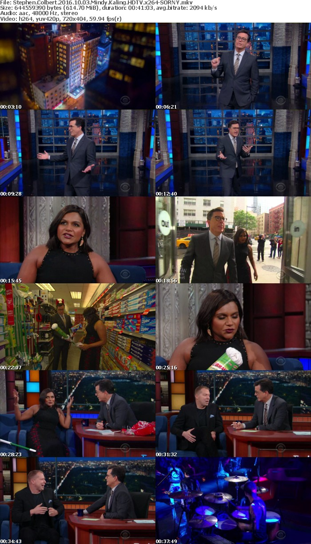 Stephen Colbert 2016 10 03 Mindy Kaling HDTV x264-SORNY