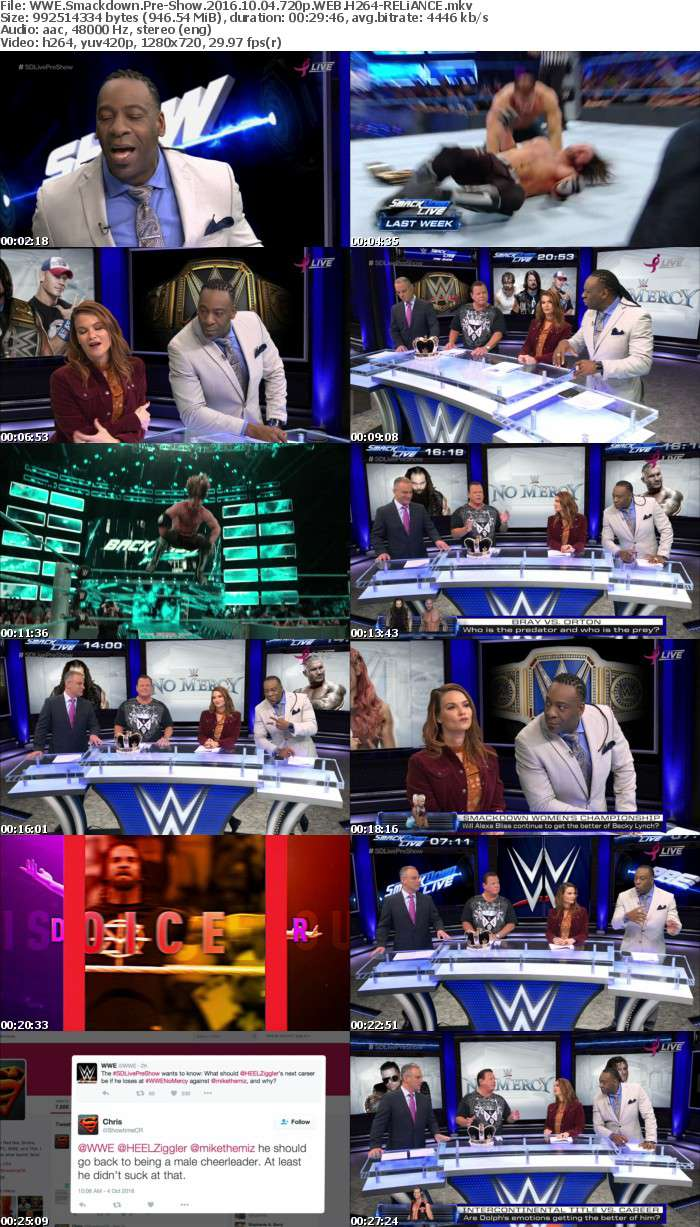 WWE Smackdown Pre-Show 2016 10 04 720p WEB H264-RELiANCE