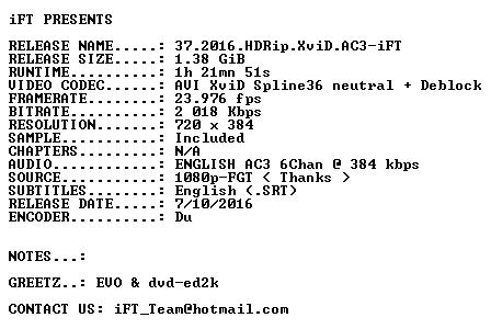 37 2016 HDRip XviD AC3-iFT