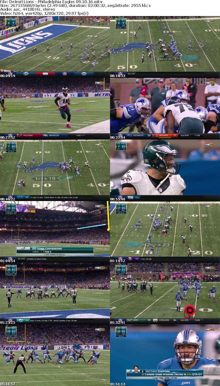 NFL 2016 WK05 Lions vs Eagles 720p