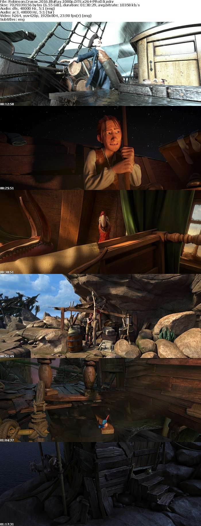 Robinson Crusoe 2016 BluRay 1080p DTS x264-PRoDJi