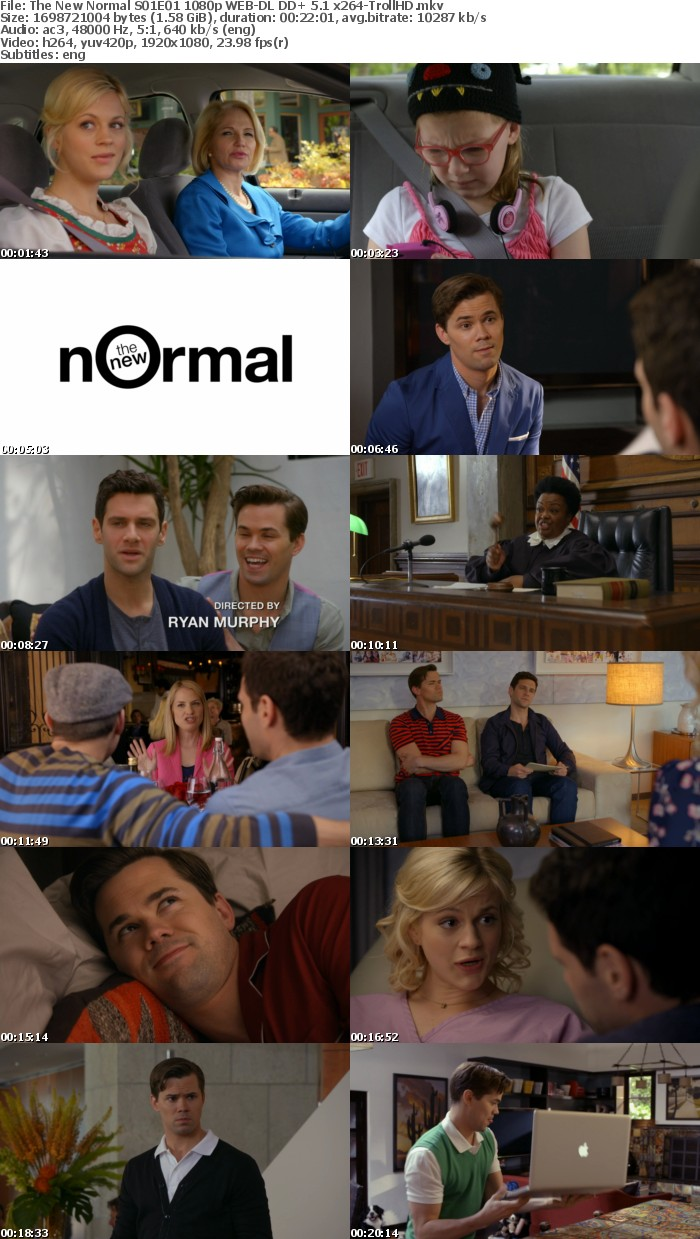 The New Normal S01E01 1080p WEB DL DD+ 5 1 x264 TrollHD