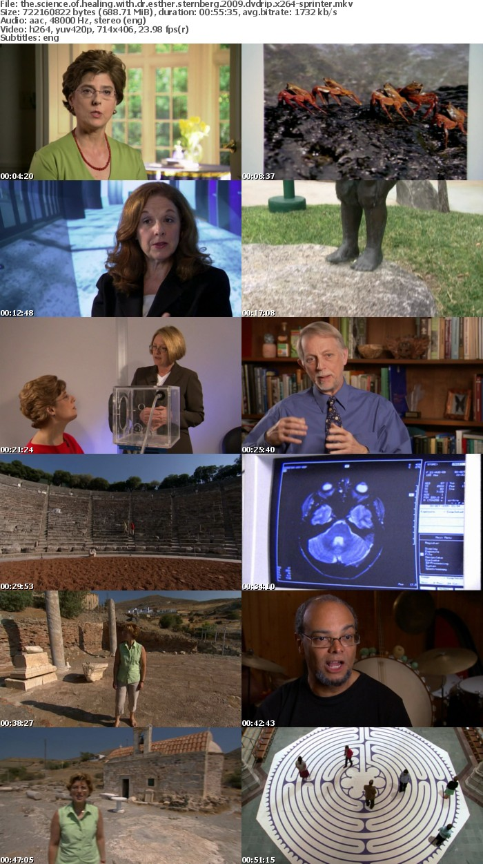 The Science of Healing With Dr Esther Sternberg 2009 DVDRip x264-SPRiNTER