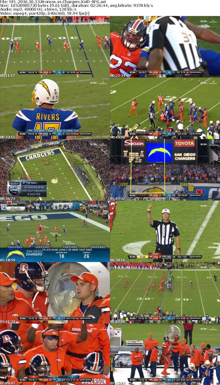NFL 2016 10 13 Broncos vs Chargers XviD-AFG