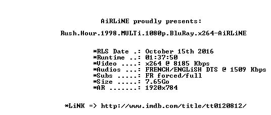 Rush Hour 1998 MULTi 1080p BluRay x264-AiRLiNE
