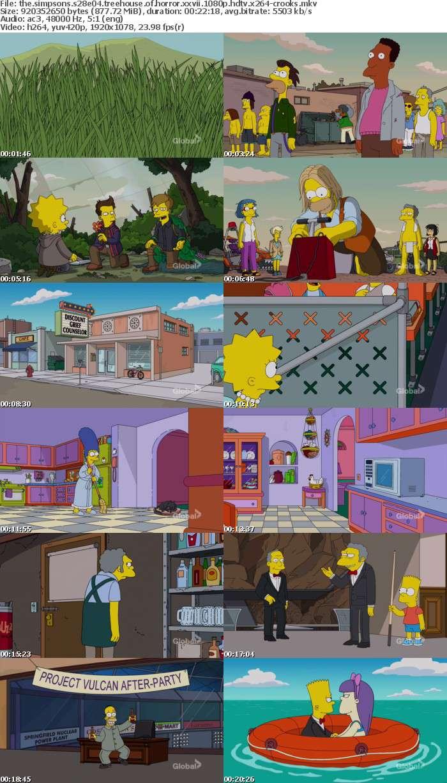 The Simpsons S28E04 Treehouse of Horror XXVII 1080p HDTV x264-CROOKS