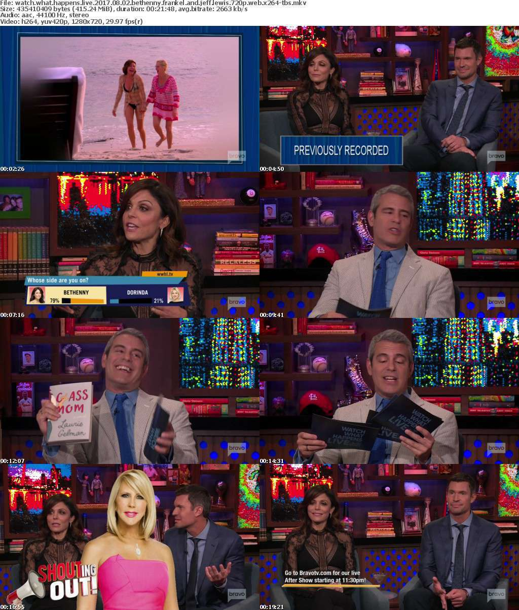 Watch What Happens Live 2017 08 02 Bethenny Frankel and Jeff Lewis 720p WEB x264-TBS