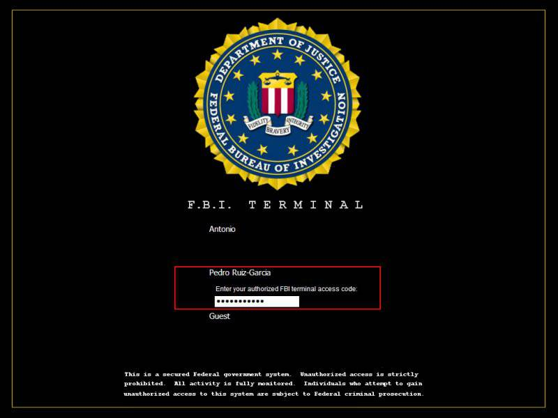 Logon Screens For Xp. FBI Terminal XP Login Fast
