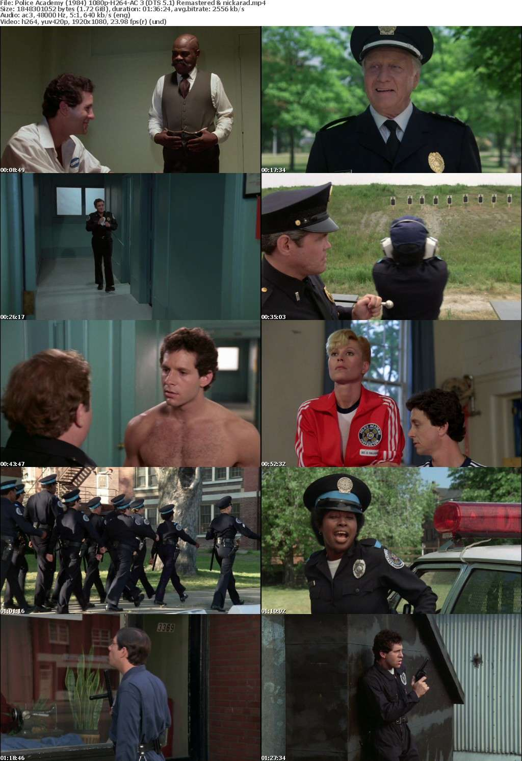Police Academy (1984) 1080p BluRay H264 AC 3 Remastered-nickarad