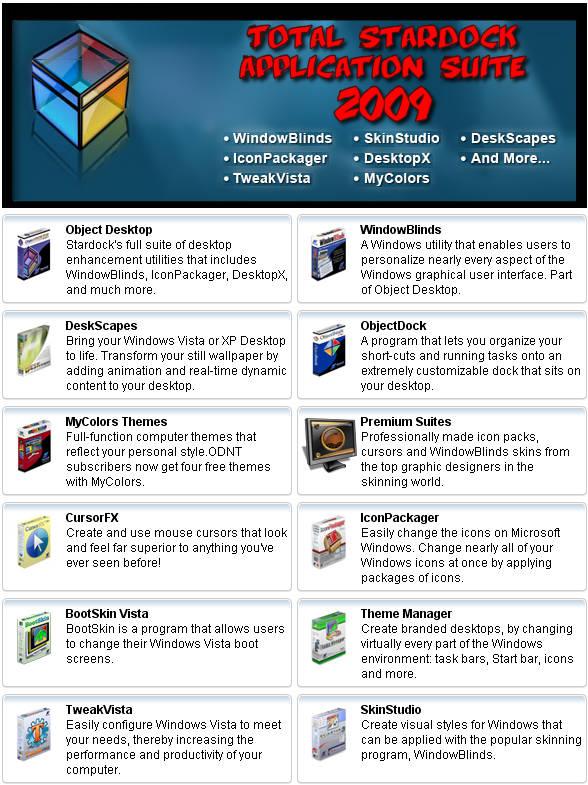 حصريا Total Stardock Application Suite April 2009 خلي
