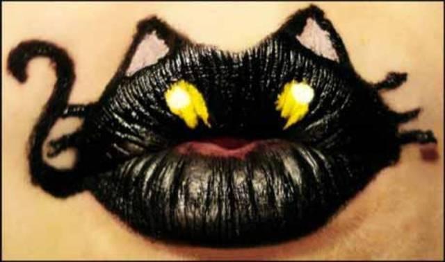 Pintura de labios en fantasía