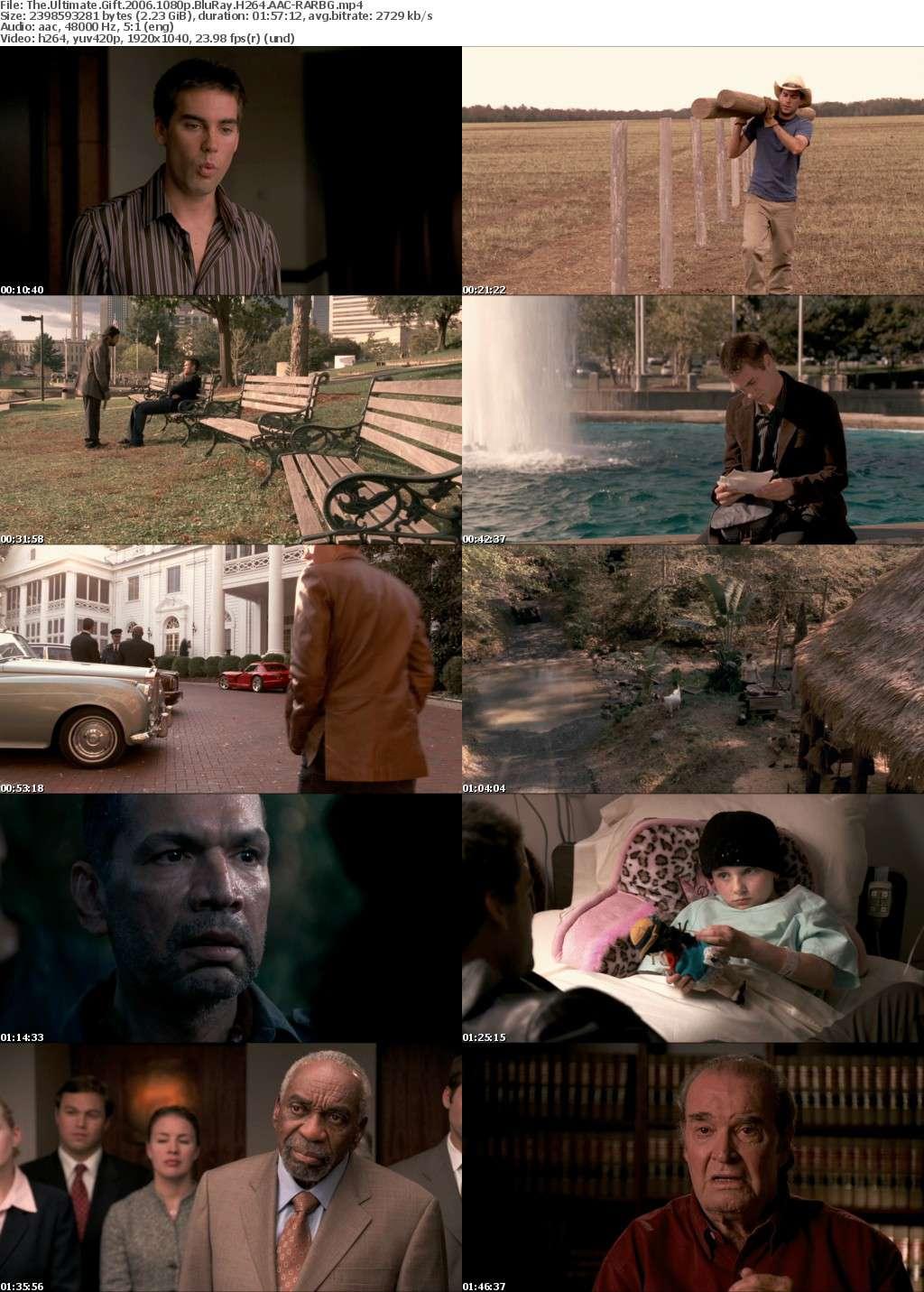 The Ultimate Gift 2006 1080p BluRay H264 AAC-RARBG