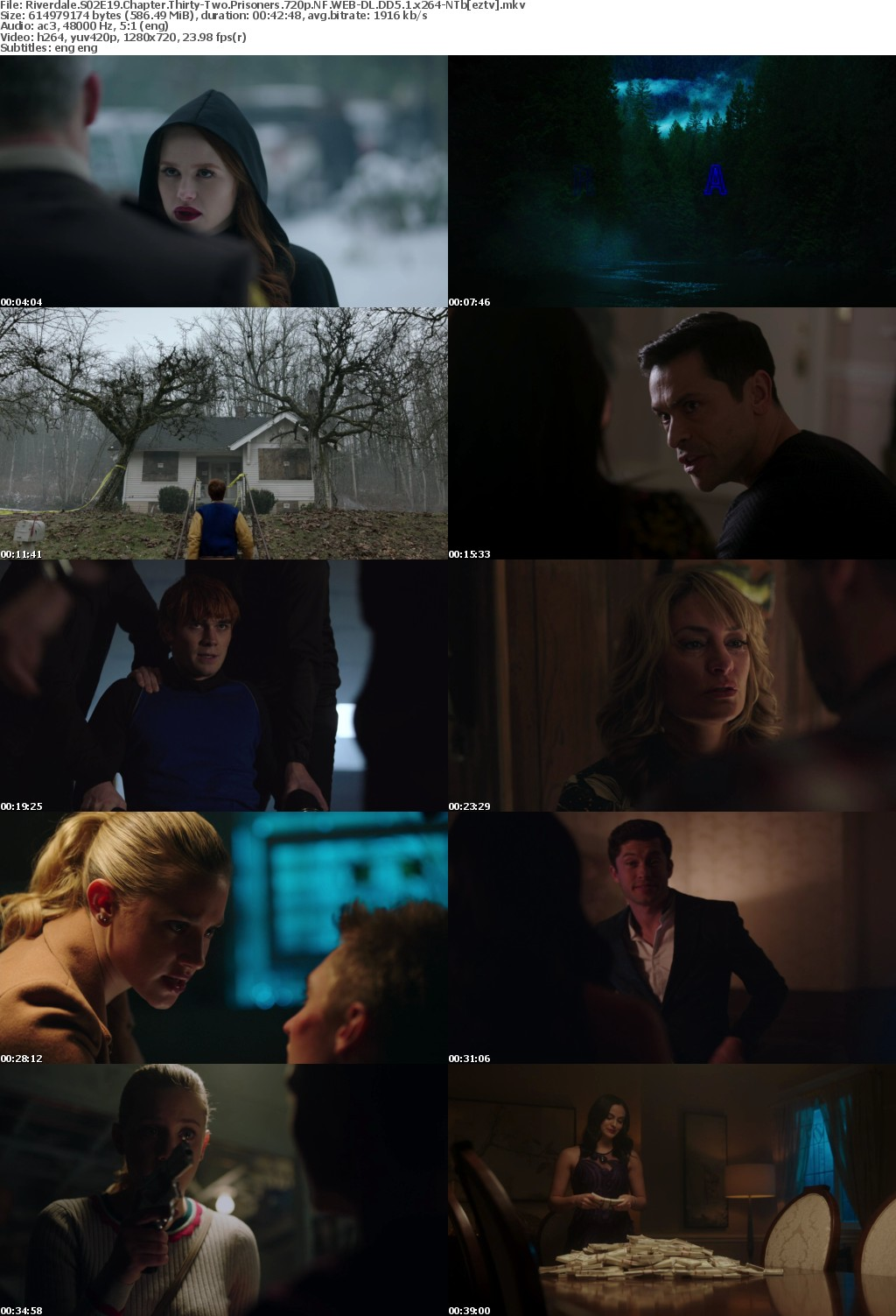 Riverdale S02E19 Chapter Thirty-Two Prisoners 720p NF WEB-DL DD5 1 x264-NTb