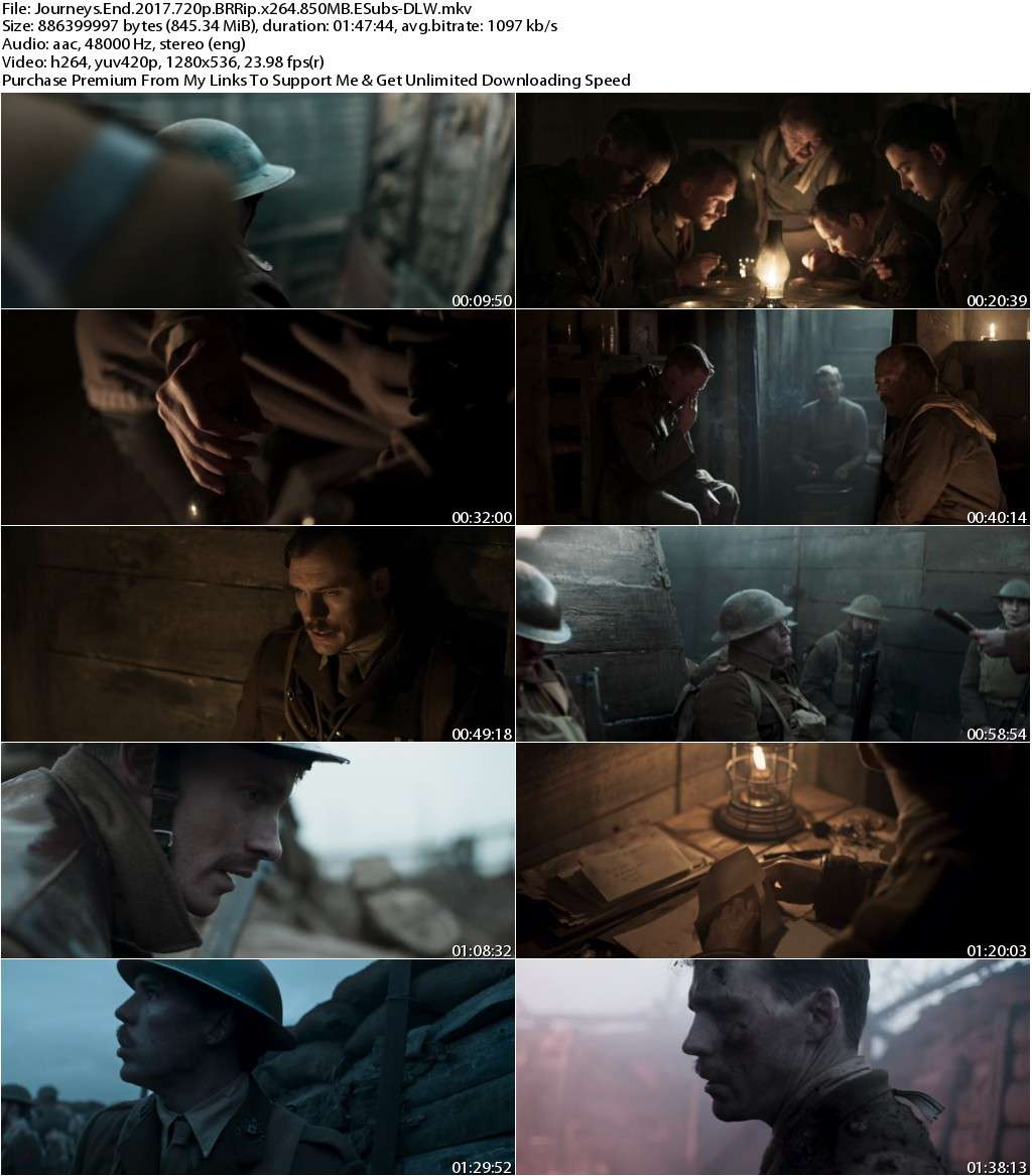 Journeys End (2017) 720p BRRip x264 850MB ESubs-DLW
