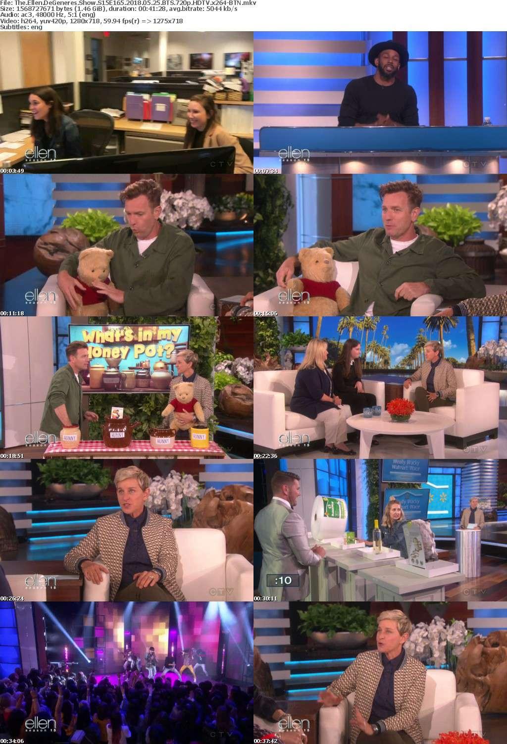 The Ellen DeGeneres Show S15E165 2018 05 25 BTS 720p HDTV x264-BTN